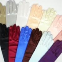 彈性緞面手套
