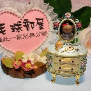 日系水晶鑽化妝台飾品