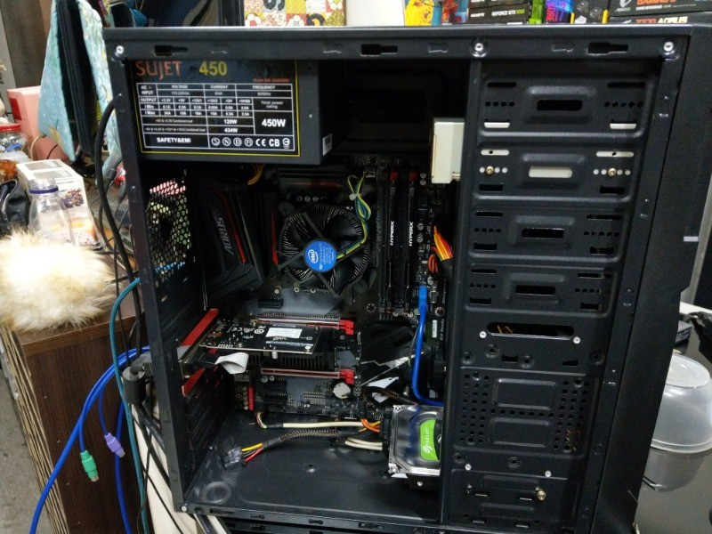 新組裝桌機,採用原有部份零組件