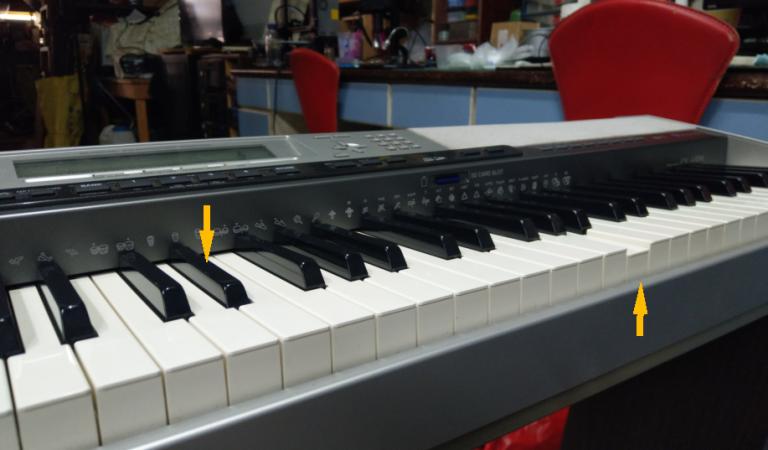 Casio PX-410R 電鋼琴,琴鍵下陷